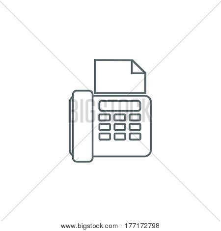 fax icon outline office icon with fax and paper sheet