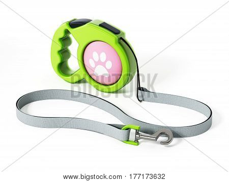 Dog collar isolated on white background. 3D illustration.