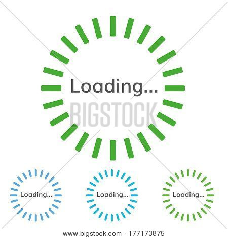 round green  sign of loading Vector round pre-loader