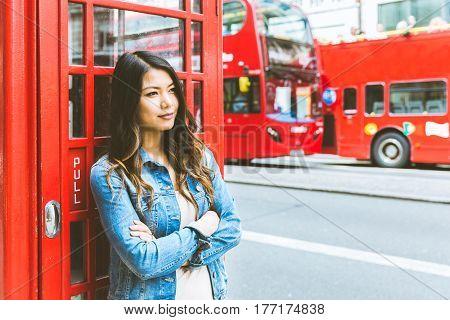Asian Woman Portrait In London