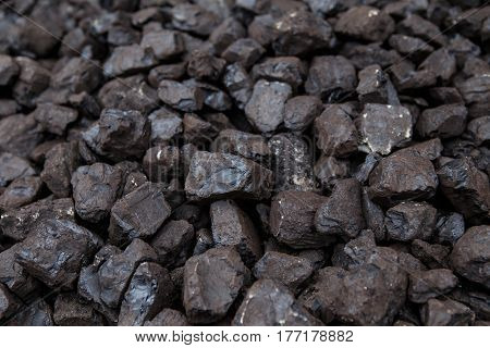 Pile of coal, household heating for the winter