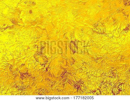 Yellow gold painted background. Texture of paint