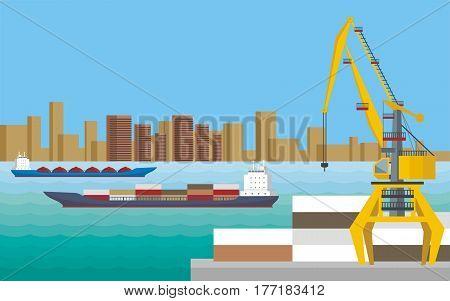 Trade Sea Port.eps