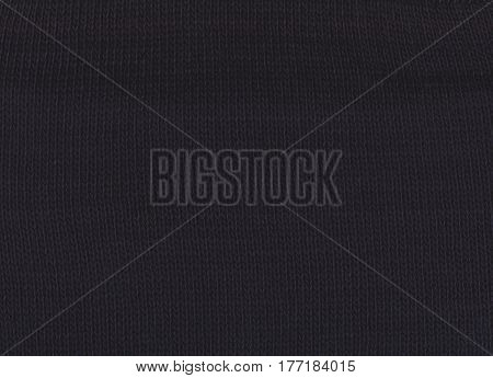 Black  Texture Of Knitted Fabric.