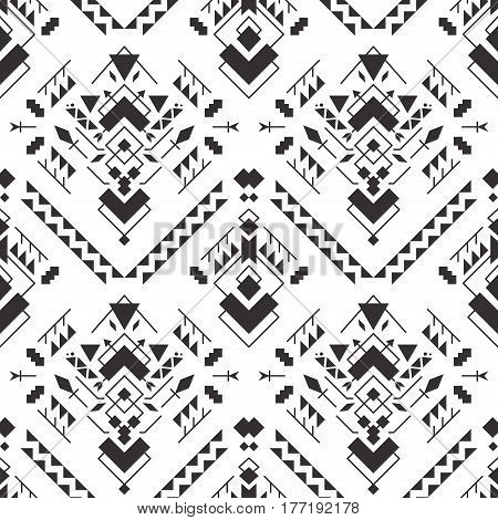 Abstract geometric aztec seamless patterns. Mexican tribal ethnic design. Indian traditional ornament. Collection of elements for decoration card tattoo cover Vector texture illustration.
