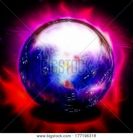 Crystal Ball   3D Render