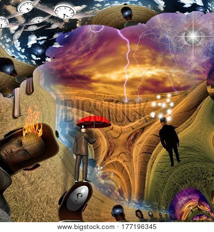 Mystical Fantasy   3D Render  Some elements provided courtesy of NASA