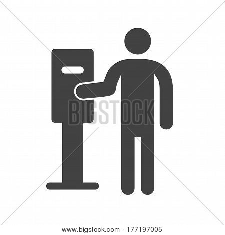 Parking, meter, machine icon vector image. Can also be used for city lifestyle. Suitable for use on web apps, mobile apps and print media.
