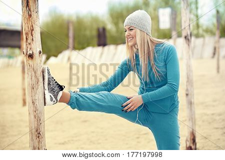 Woman Exercising In The Morning