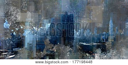 Modern Abstract, Manhattan  3D Render