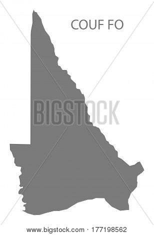 Couf Fo Benin Department Map Grey Illustration Silhouette