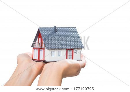 housing house hand real home concept holding loan agent.