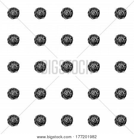 Abstract polka dot pattern with hand drawn dots. Cute vector black and white polka dot pattern. Seamless monochrome polka dot pattern for fabric, wallpapers, wrapping paper, cards and web backgrounds.