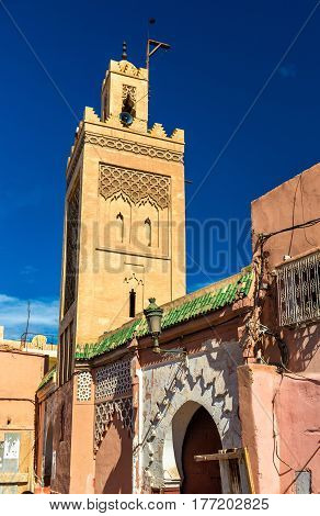 Buildings in Medina of Marrakesh, a UNESCO world heritage site in Morocco