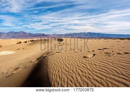 Death Valley National Park - Mesquite dunes. California, USA.
