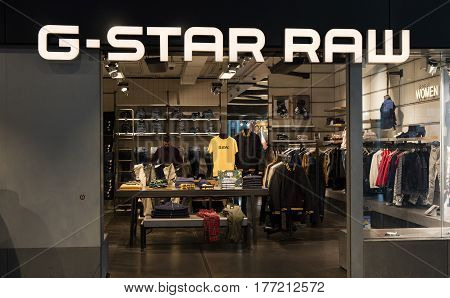 G Star Raw Shop In Amsterdam Schiphol