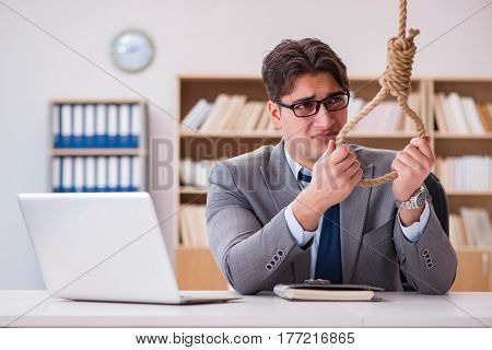 Bankrupt broke businessman considering suicide hanging himself