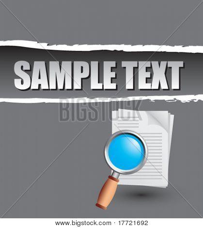 ingrandire documenti grigio strappati modello