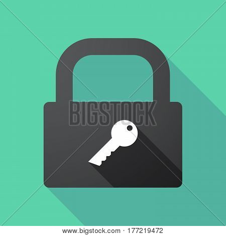 Long Shadow Lock Pad With A Key