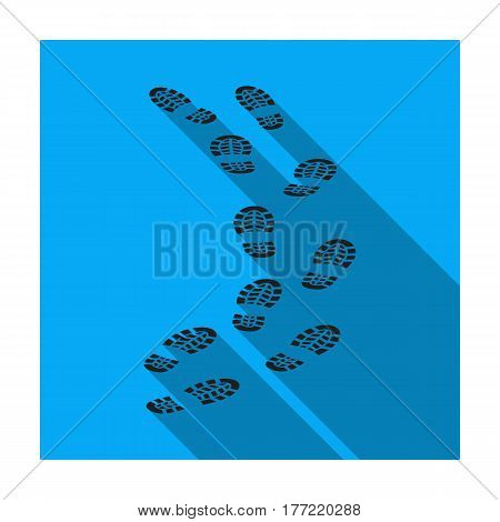 Steps of the criminal. The criminal escaped from prison.Prison single icon in flat style vector symbol stock web illustration.