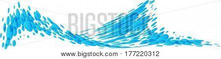 Splashing water isolated on white background, vector illustration
