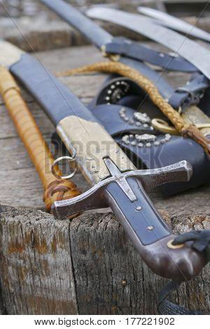 medieval weapons , historical sword , Ukrainian style  Cossack saber