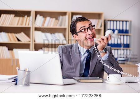 Funny businessman in the office