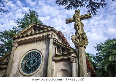 Small Lutheran chapel of Carlos Alberto in Crystal Palace Gardens Porto Portugal
