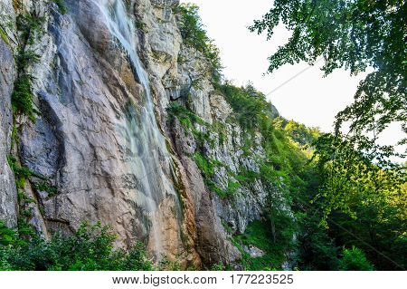 Waterfall Skakavac near Sarajevo - Bosnia and Herzegovina. Waterfall is 98 metres high and placed in the landscape of exceptional beauty