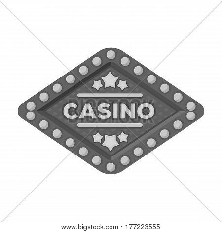 The emblem of the playing club with the inscription of the casino.Kasino single icon in monochrome style vector symbol stock web illustration.