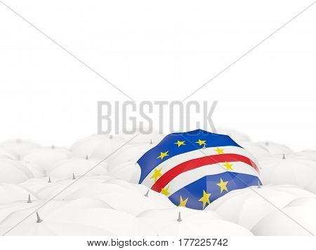 Umbrella With Flag Of Cape Verde
