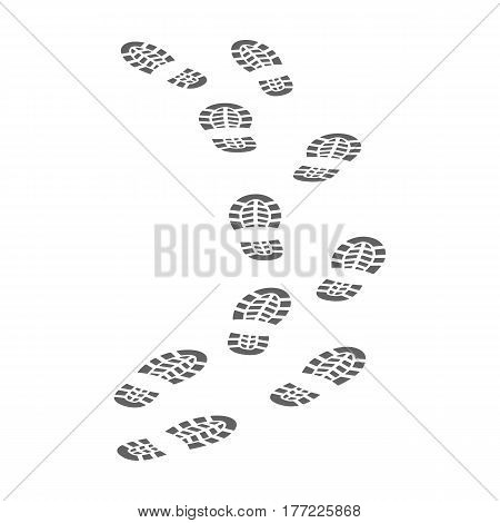 Steps of the criminal. The criminal escaped from prison.Prison single icon in monochrome style vector symbol stock web illustration.