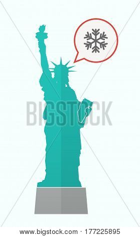 Isolated Statue Of Liberty With A Snow Flake