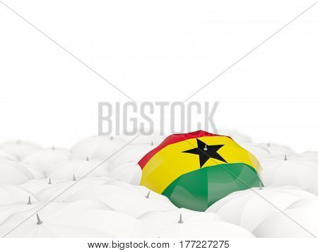Umbrella With Flag Of Ghana