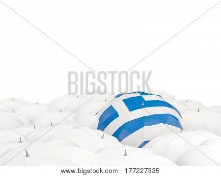 Umbrella With Flag Of Greece