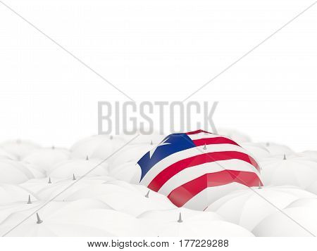 Umbrella With Flag Of Liberia