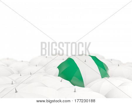 Umbrella With Flag Of Nigeria