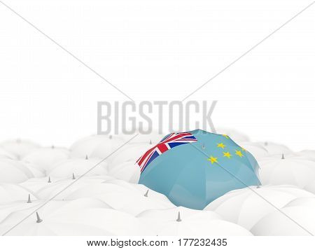Umbrella With Flag Of Tuvalu