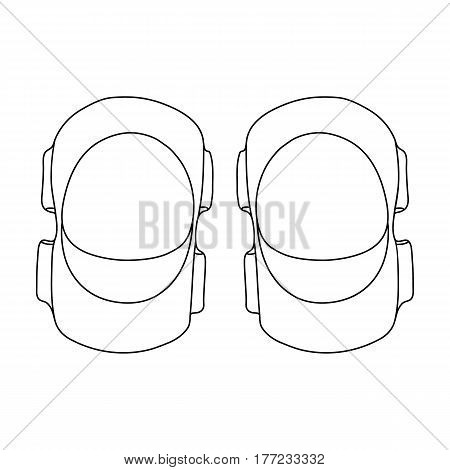 Protective elbow pads for cyclists. Protection for athletes.Cyclist outfit single icon in outline style vector symbol stock web illustration.