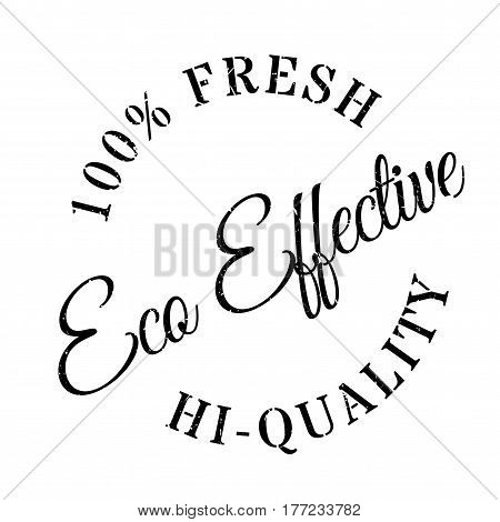 Eco effective stamp. Grunge design with dust scratches. Effects can be easily removed for a clean, crisp look. Color is easily changed.
