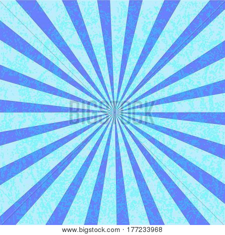 Grunge blue starburst effect background. Starburst with texture