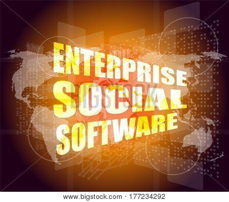 Enterprise Social Software, Interface Hi Technology, Touch Screen