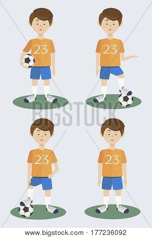 Football players silhouette. Vector illustration EPS 10