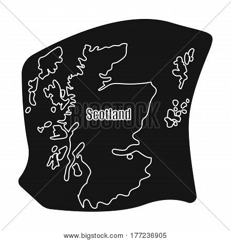 Scotland the map.Scotland is a Country on the world map.Scotland single icon in black style vector symbol stock web illustration.