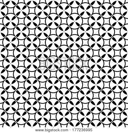 Vector monochrome seamless pattern. Simple black & white repeat geometric texture. Illustration of tapes, spools. Abstract endless background, repeating tiles. Modern stylish backdrop