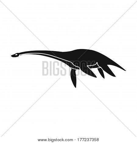 Blue Loch ness monster.The monster of lake Loch ness in Scotland.Scotland single icon in black style vector symbol stock web illustration.