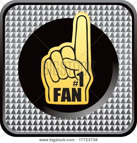 fan hand silver checkered web icon