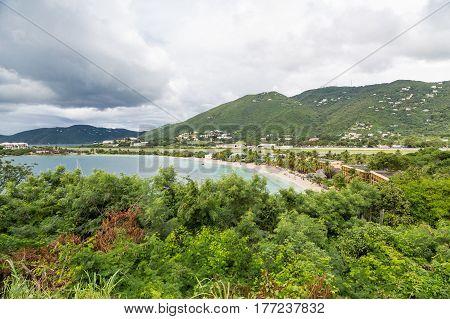 Cove Beach in Tropical Jungle on St Thomas