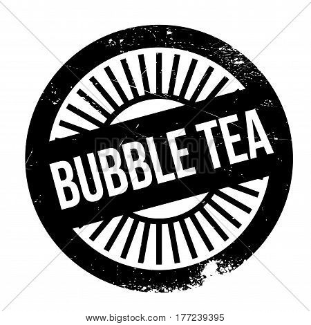 Bubble tea stamp. Grunge design with dust scratches. Effects can be easily removed for a clean, crisp look. Color is easily changed.