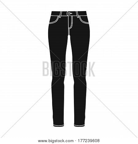 Green skinny pants for women. Women s clothes for a walk.Women clothing single icon in black style vector symbol stock web illustration.